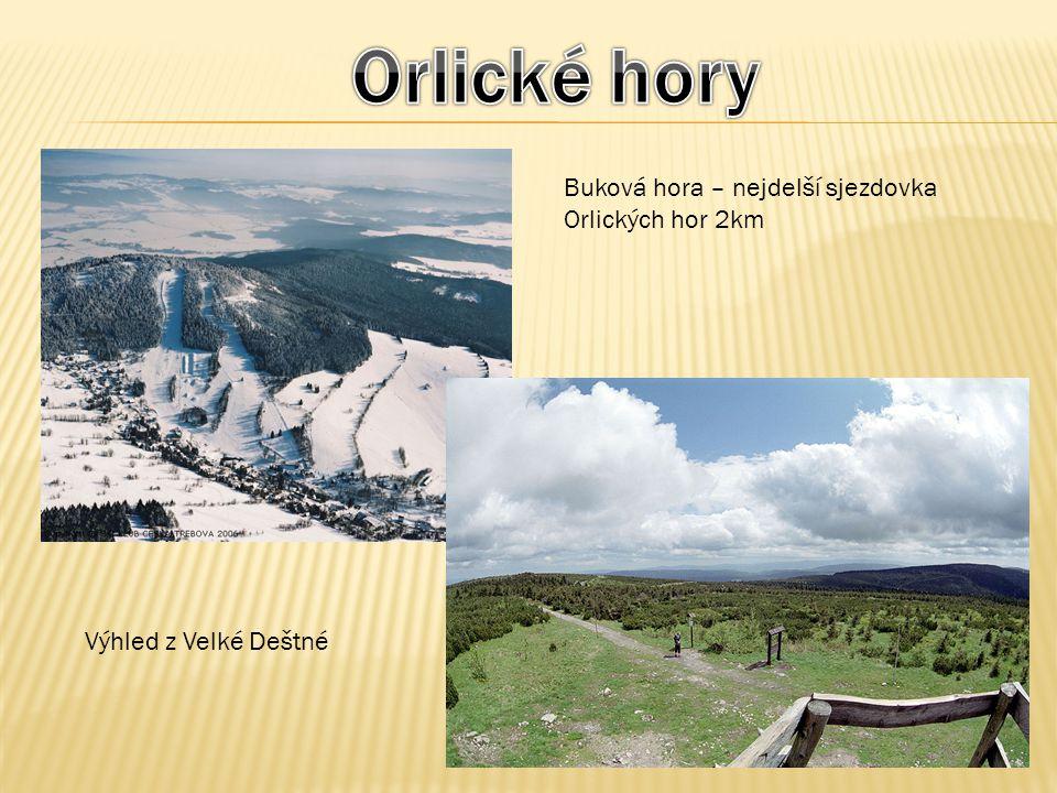 Orlické hory Buková hora – nejdelší sjezdovka Orlických hor 2km
