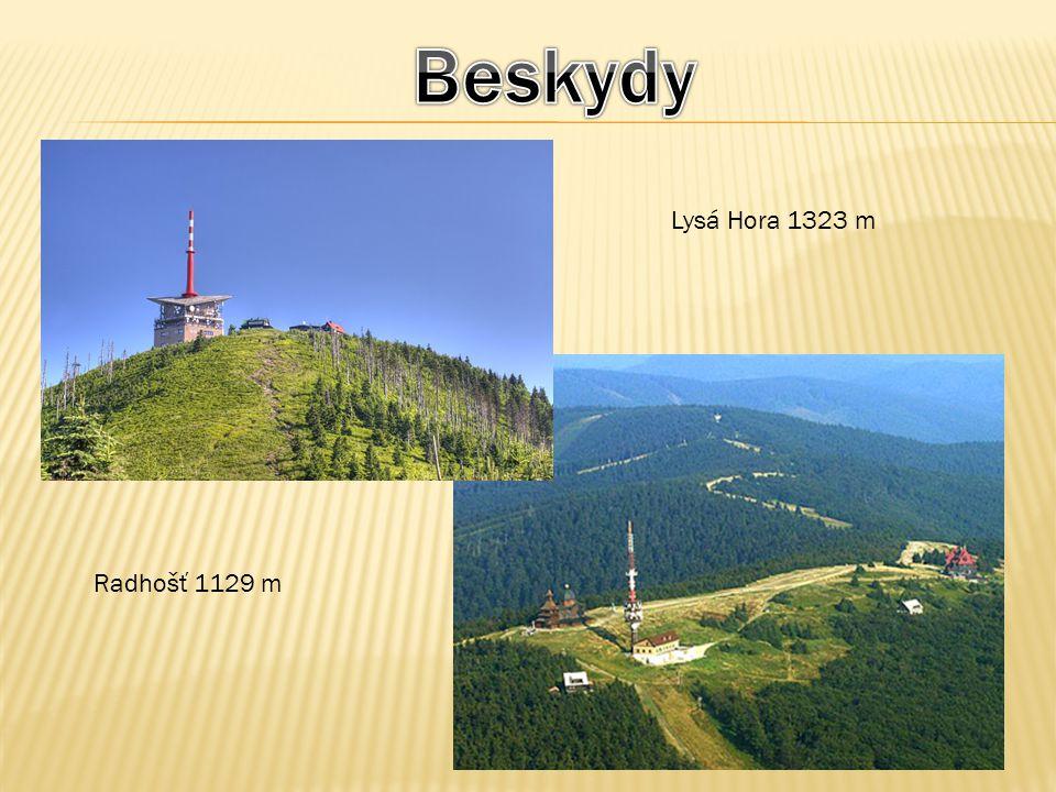Beskydy Lysá Hora 1323 m Radhošť 1129 m