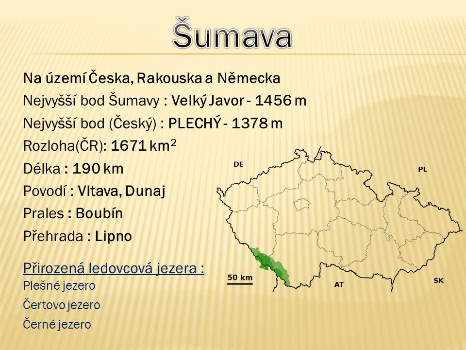 Šumava Na území Česka, Rakouska a Německa
