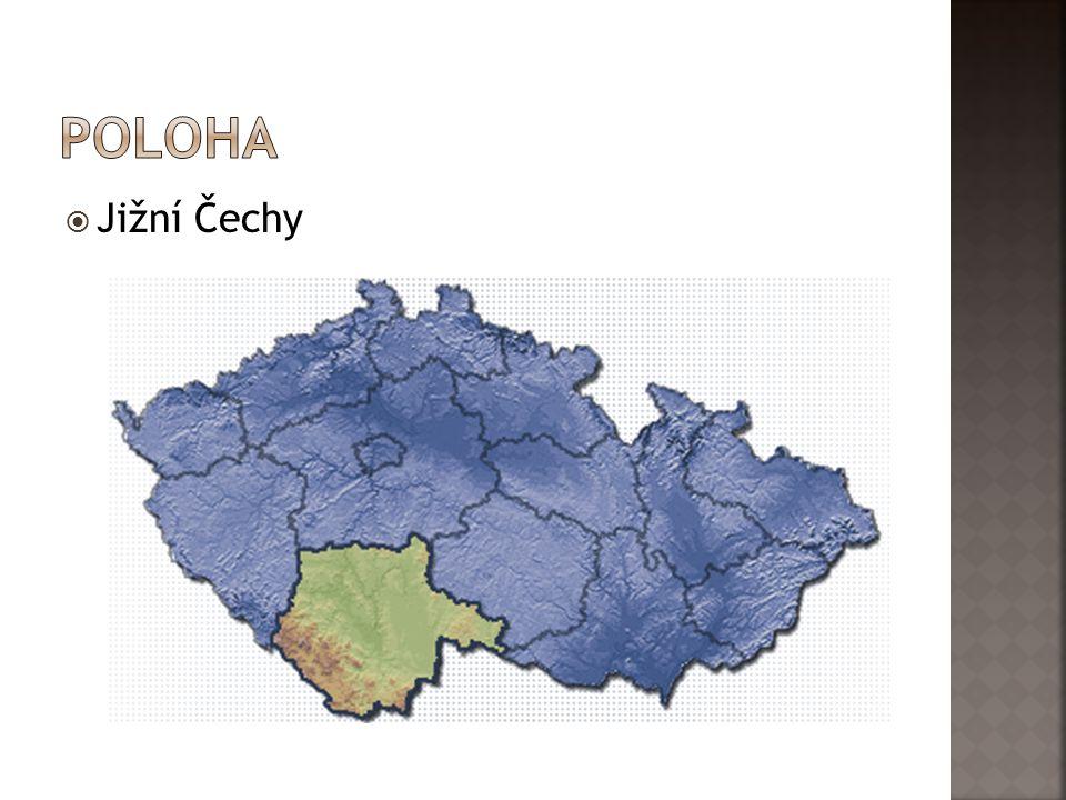 poloha Jižní Čechy