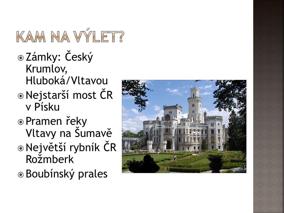 Kam na výlet Zámky: Český Krumlov, Hluboká/Vltavou