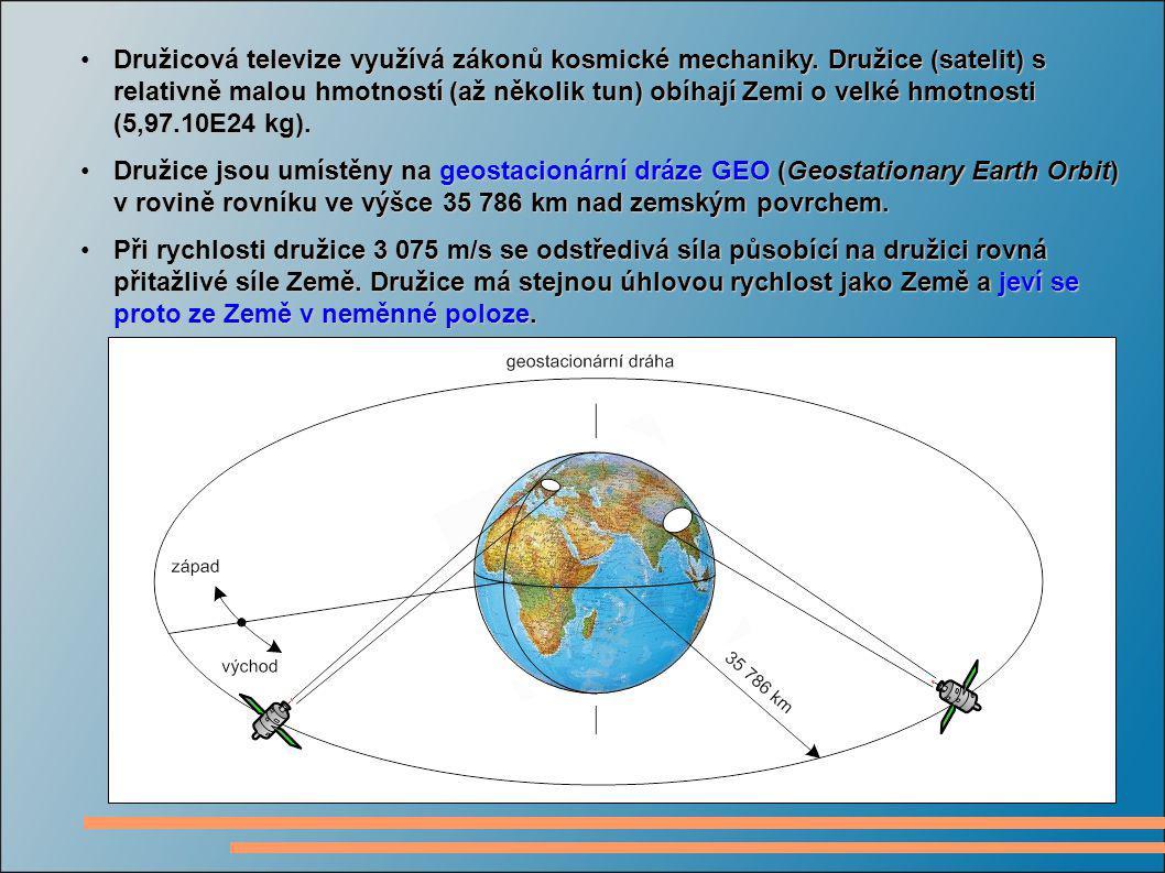 Družicová televize využívá zákonů kosmické mechaniky