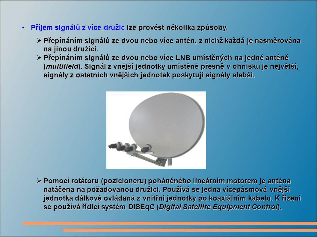 Příjem signálů z více družic lze provést několika způsoby.