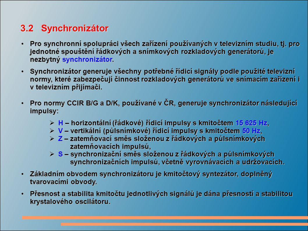 3.2 Synchronizátor