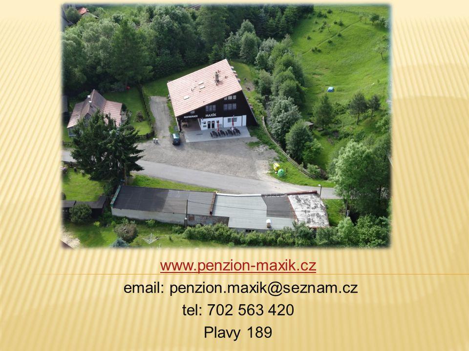 email: penzion.maxik@seznam.cz