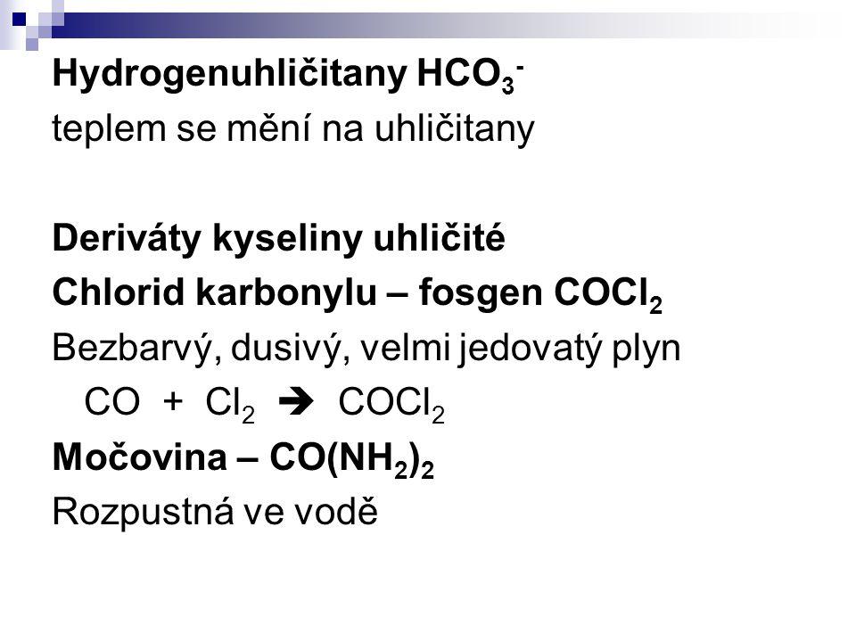 Hydrogenuhličitany HCO3-