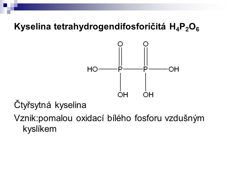 Kyselina tetrahydrogendifosforičitá H4P2O6