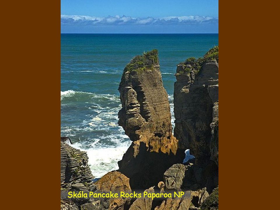 Skála Pancake Rocks Paparoa NP