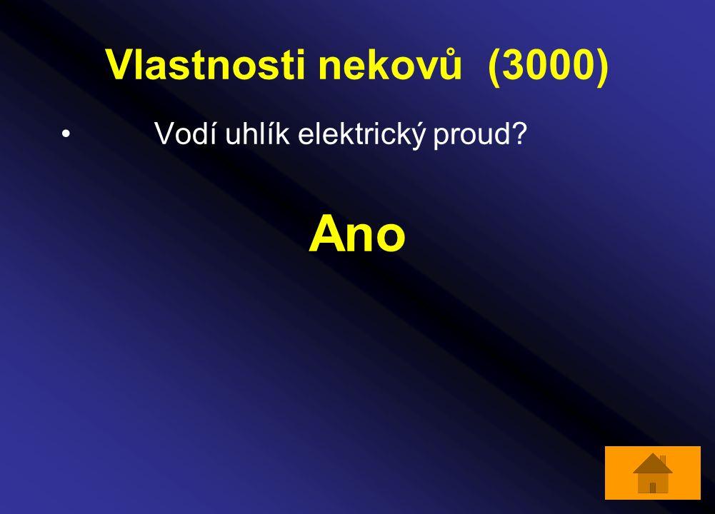 Vlastnosti nekovů (3000) Vodí uhlík elektrický proud Ano