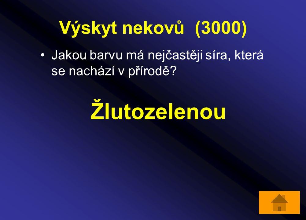 Žlutozelenou Výskyt nekovů (3000)