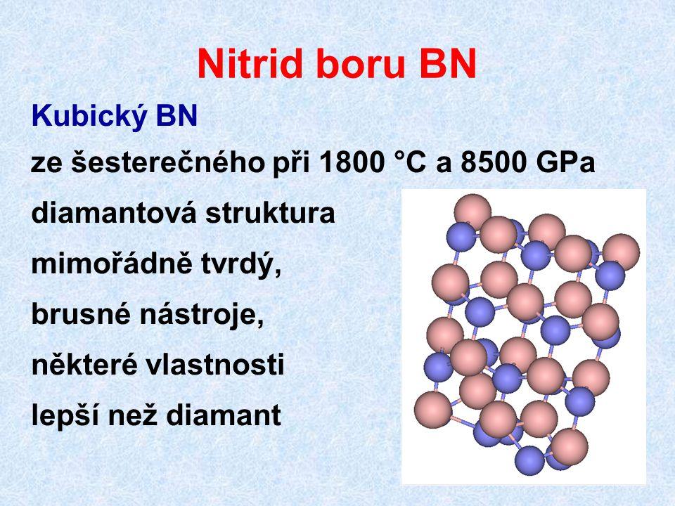 Nitrid boru BN Kubický BN ze šesterečného při 1800 °C a 8500 GPa