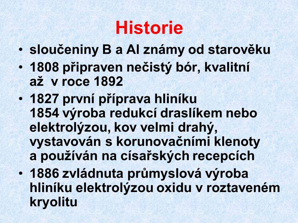 Historie sloučeniny B a Al známy od starověku