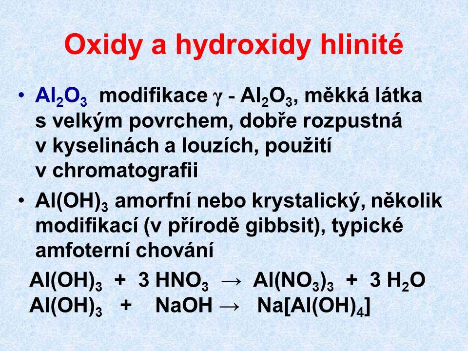 Oxidy a hydroxidy hlinité