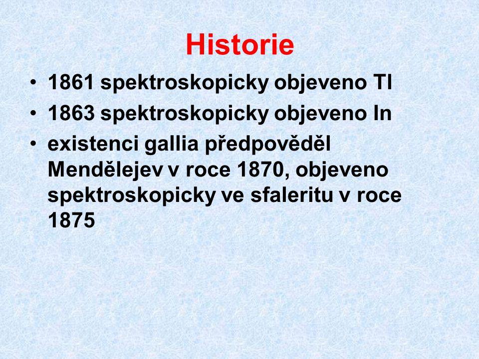 Historie 1861 spektroskopicky objeveno Tl