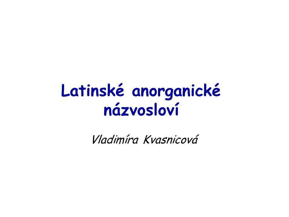 Latinské anorganické názvosloví