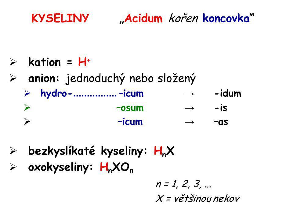 """KYSELINY """"Acidum kořen koncovka"""