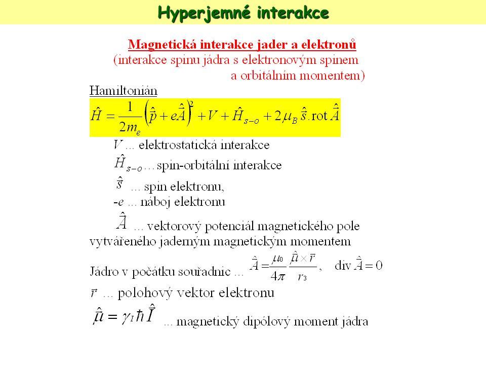 Hyperjemné interakce