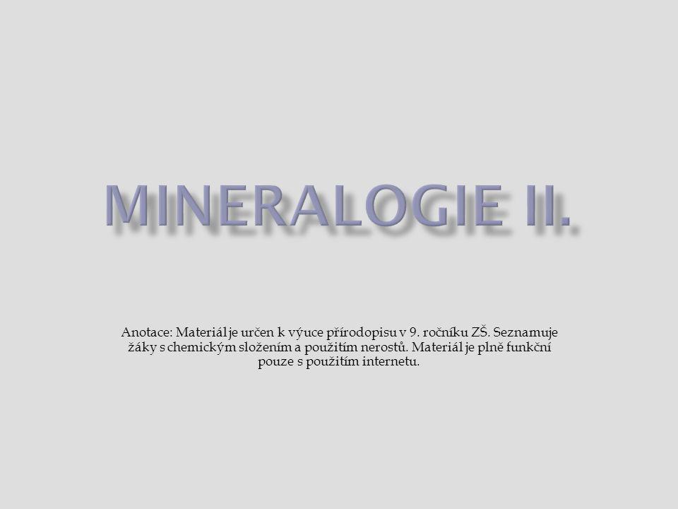 MINERALOGIE II.