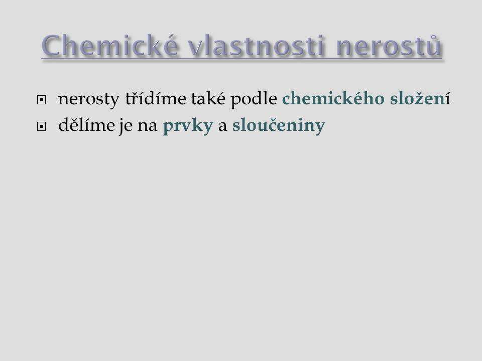 Chemické vlastnosti nerostů