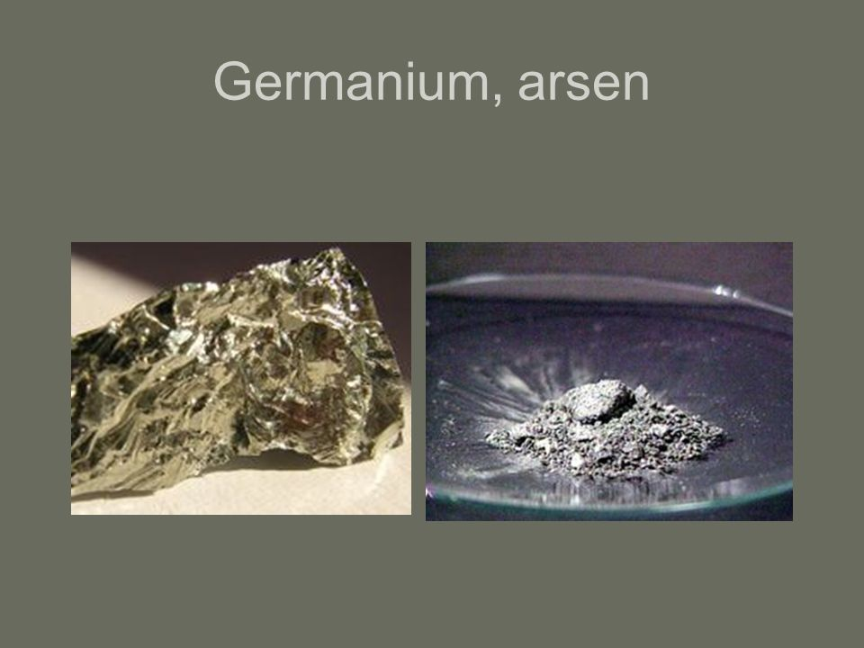 Germanium, arsen