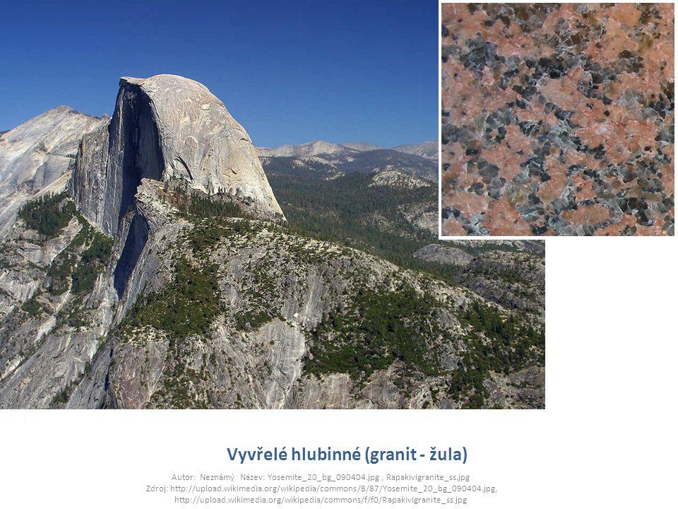 Vyvřelé hlubinné (granit - žula)