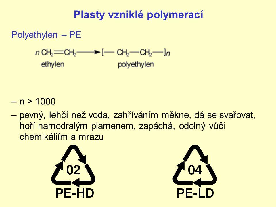 Plasty vzniklé polymerací