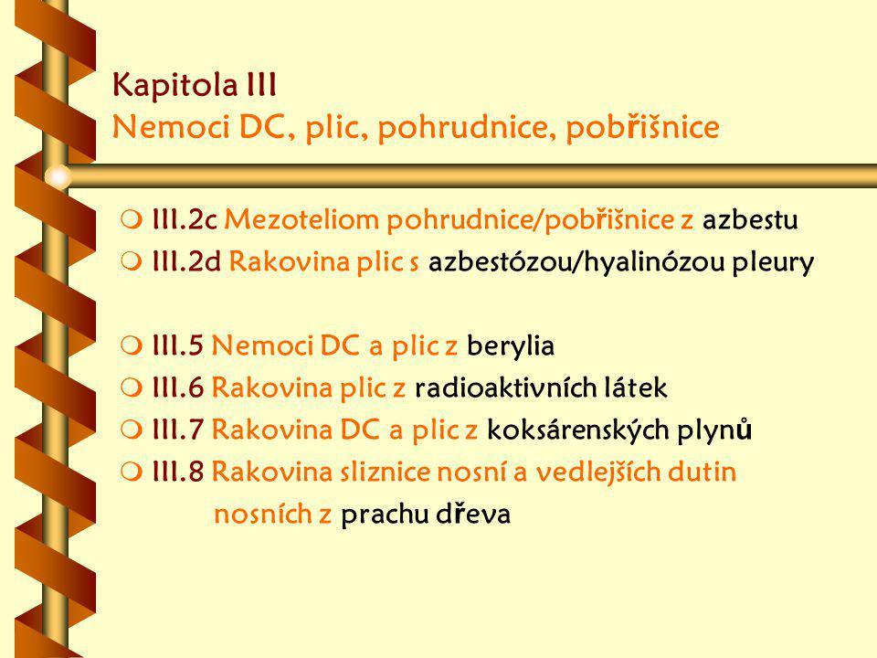 Kapitola III Nemoci DC, plic, pohrudnice, pobřišnice