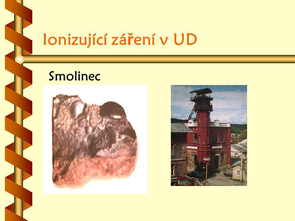 Ionizující záření v UD Smolinec