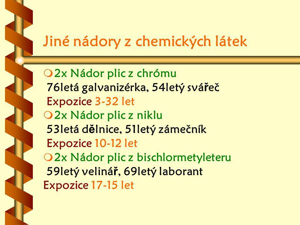 Jiné nádory z chemických látek