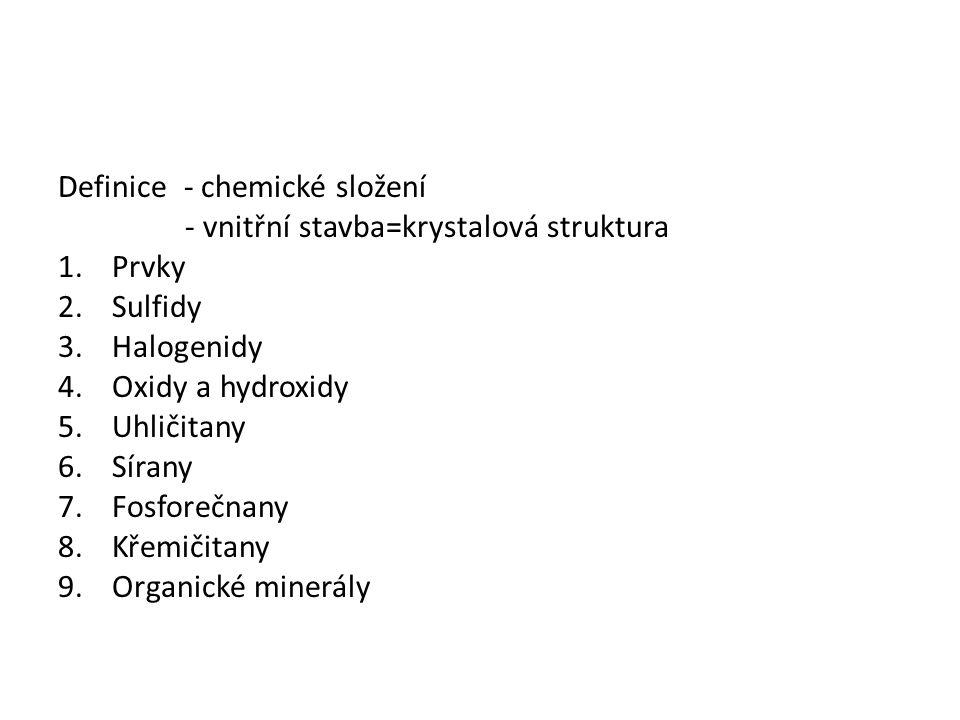 Definice - chemické složení