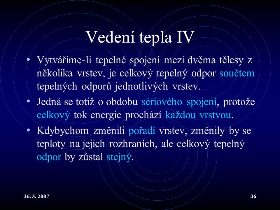 Vedení tepla IV