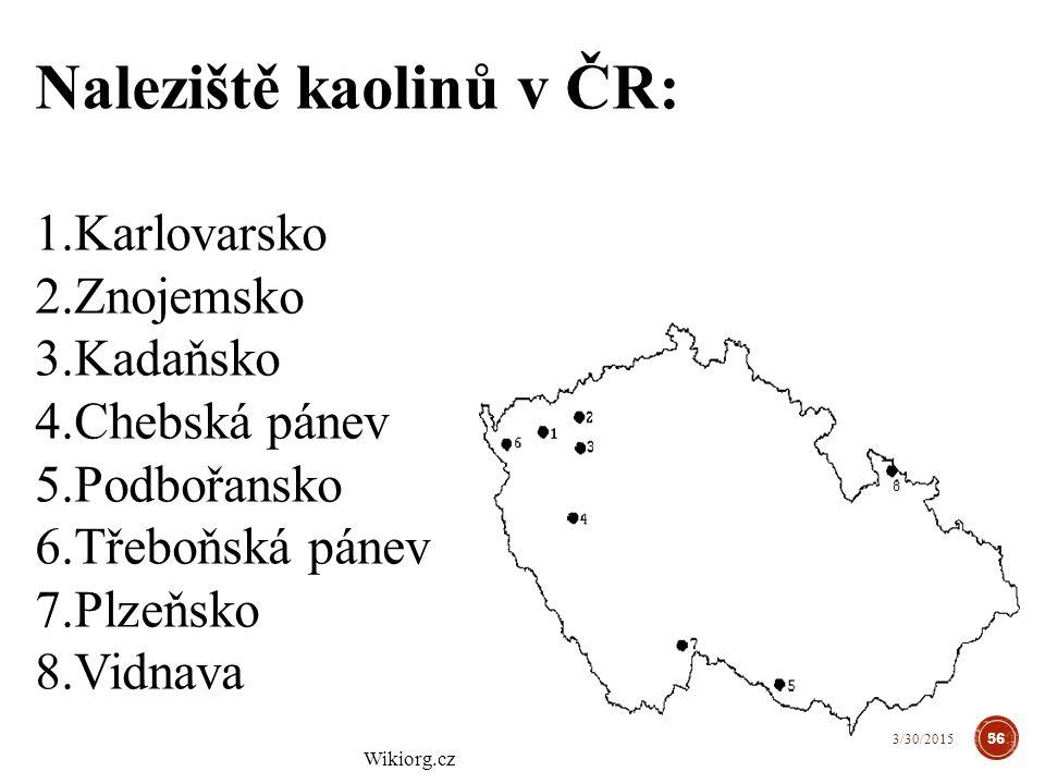 Naleziště kaolinů v ČR: