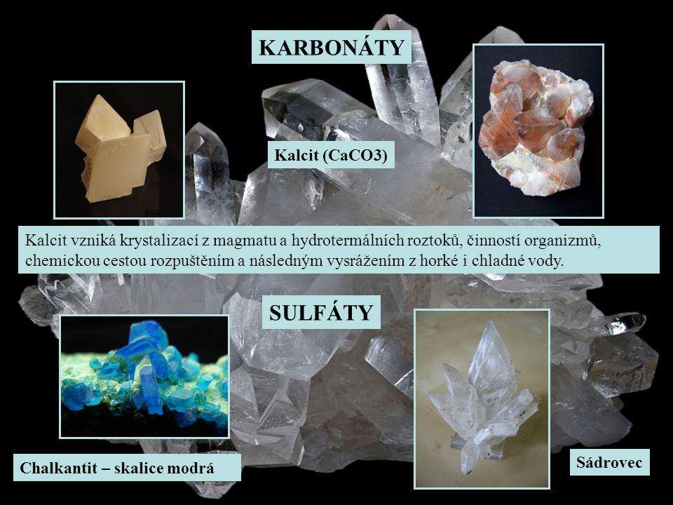 KARBONÁTY SULFÁTY Kalcit (CaCO3)