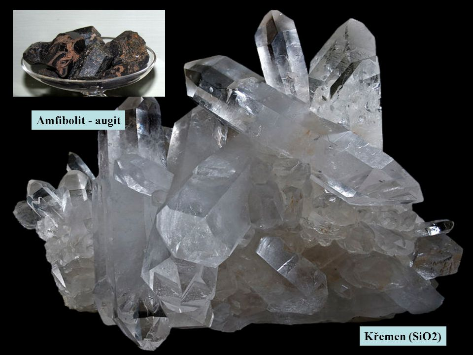 Amfibolit - augit Křemen (SiO2)