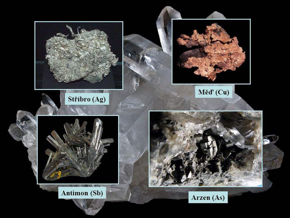 Měď (Cu) Stříbro (Ag) Antimon (Sb) Arzen (As)