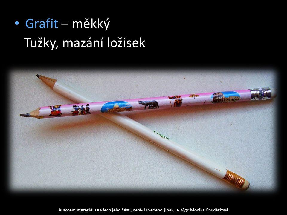 Grafit – měkký Tužky, mazání ložisek