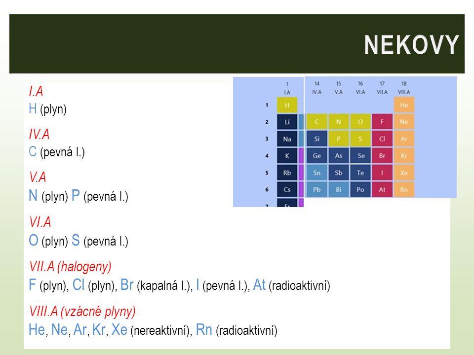 NEKOVY N (plyn) P (pevná l.) O (plyn) S (pevná l.)