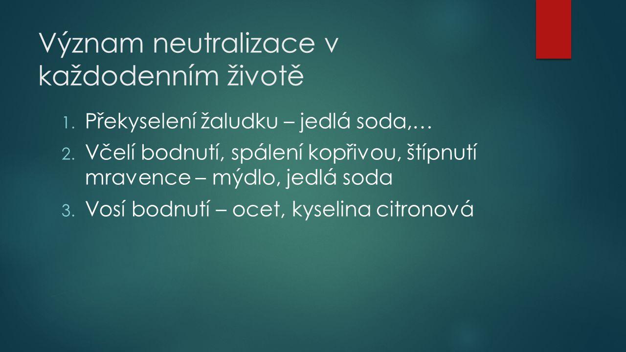 Význam neutralizace v každodenním životě