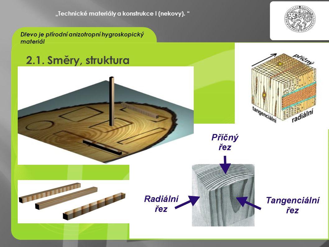 """2.1. Směry, struktura """"Technické materiály a konstrukce I (nekovy)."""
