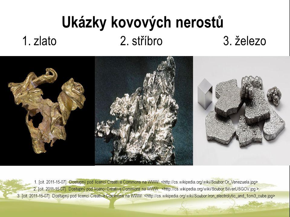 Ukázky kovových nerostů