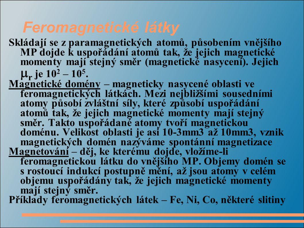 Feromagnetické látky