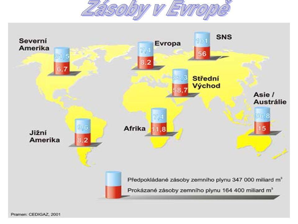 Zásoby v Evropě