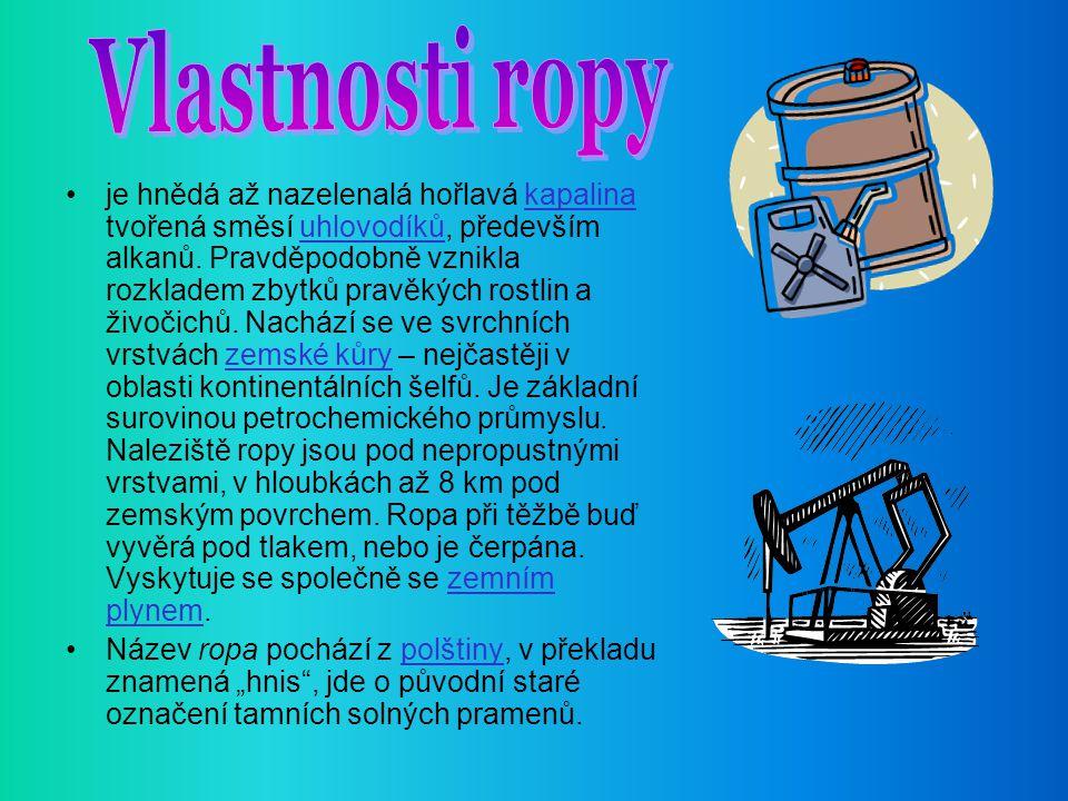 Vlastnosti ropy