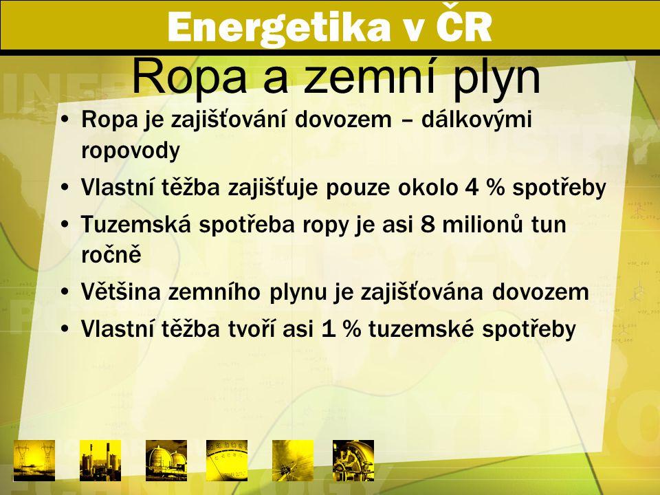 Ropa a zemní plyn Energetika v ČR