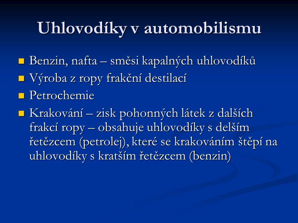Uhlovodíky v automobilismu