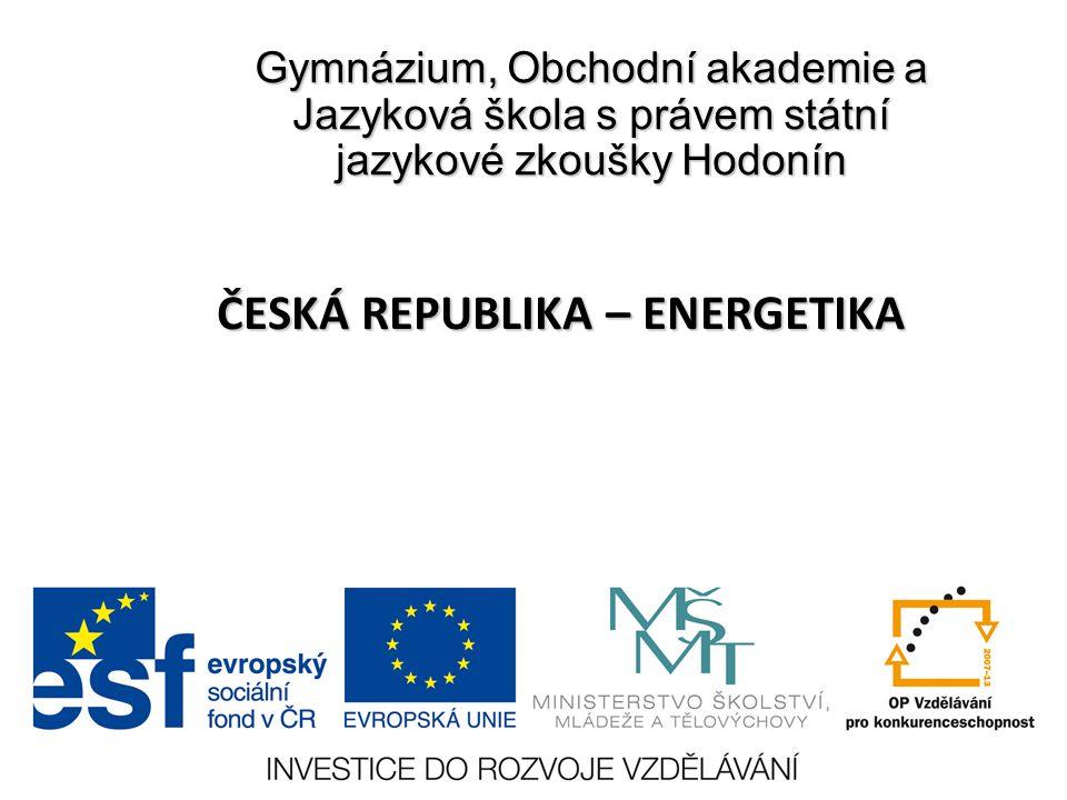 ČESKÁ REPUBLIKA – ENERGETIKA