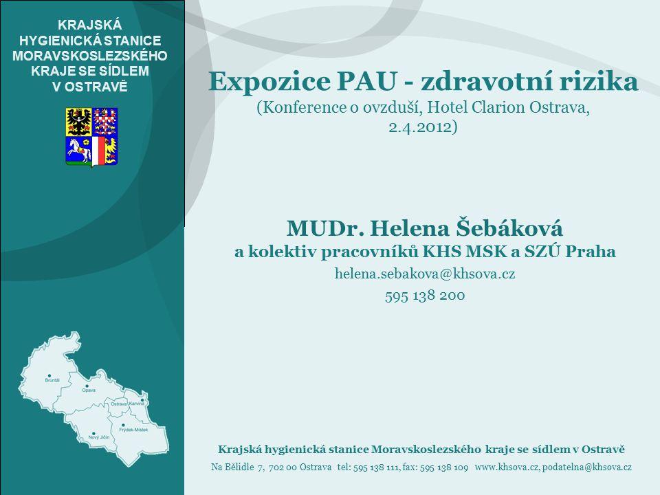 a kolektiv pracovníků KHS MSK a SZÚ Praha