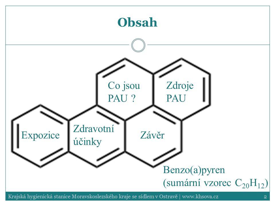 Obsah Co jsou PAU Zdroje PAU Zdravotní účinky Expozice Závěr