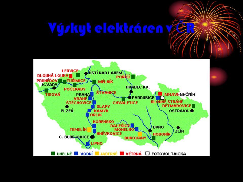 Výskyt elektráren v ČR