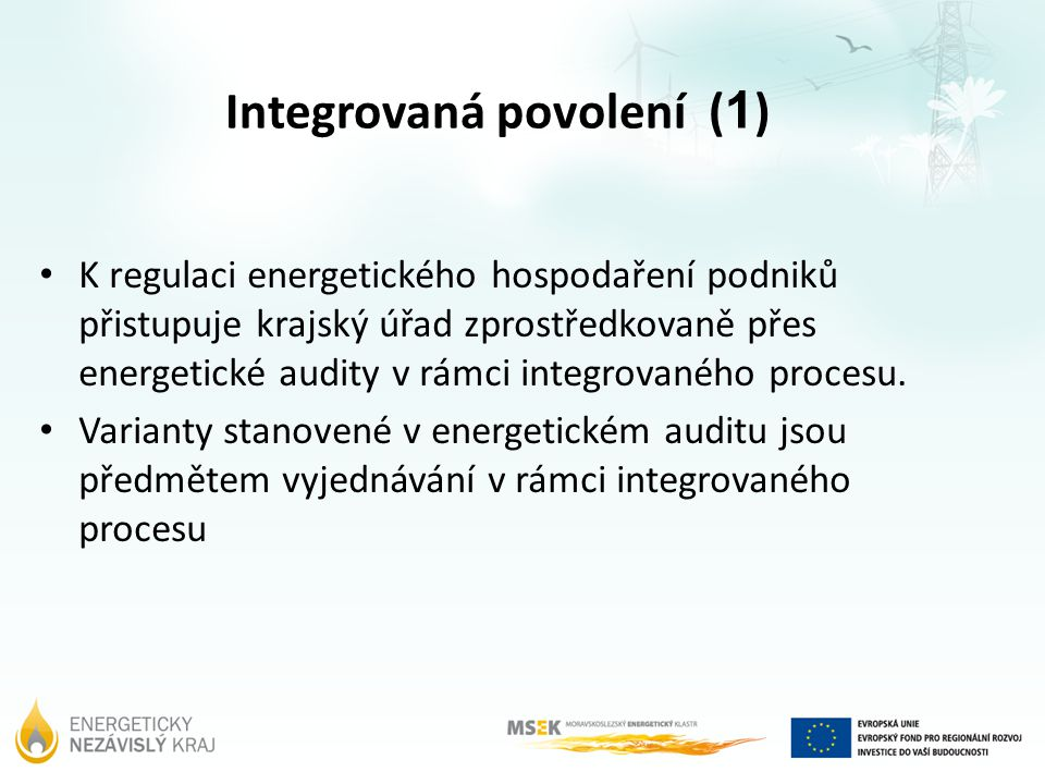 Integrovaná povolení (1)